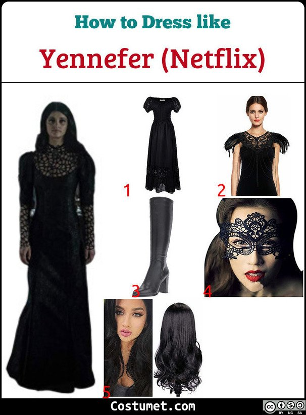 Yennefer (Netflix) Costume for Cosplay & Halloween