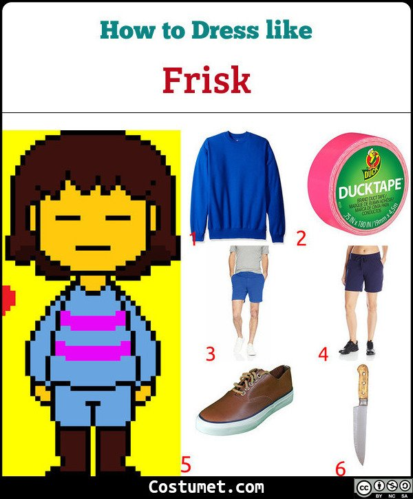 Frisk Costume for Cosplay & Halloween