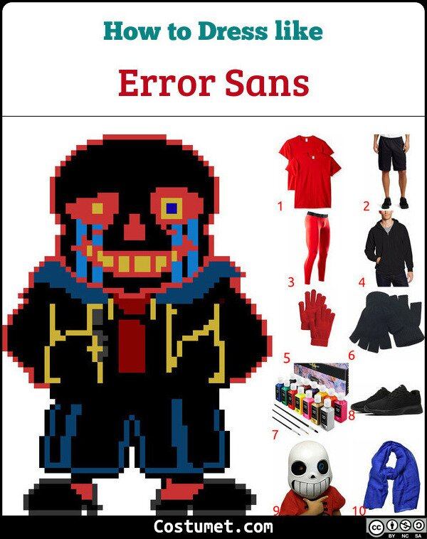 Error Sans Costume for Cosplay & Halloween