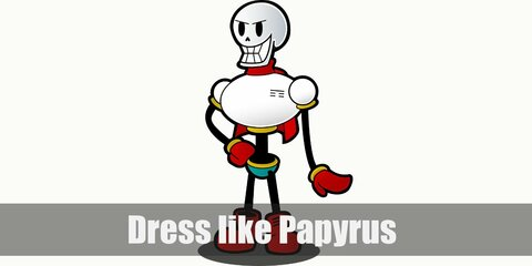 Dress like Papyrus (Undertale) Costume