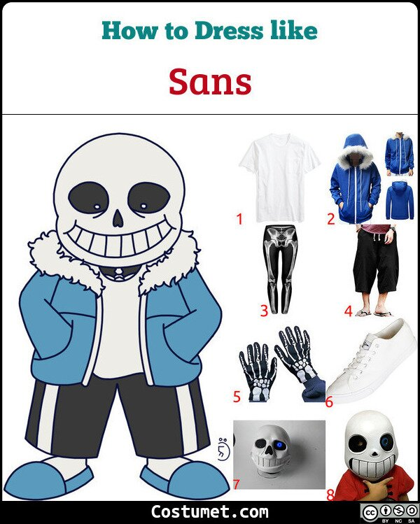 Sans Costume for Cosplay & Halloween