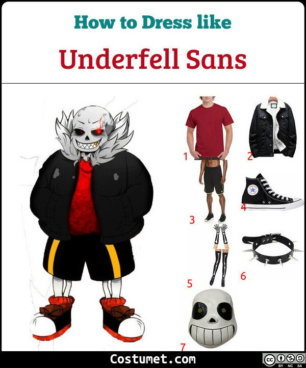 Underfell Sans Costume for Cosplay & Halloween