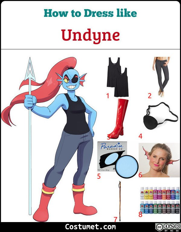 Undyne Costume for Cosplay & Halloween