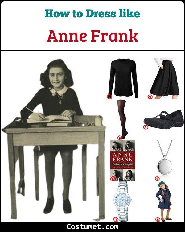 Anne Frank Costume for Cosplay & Halloween