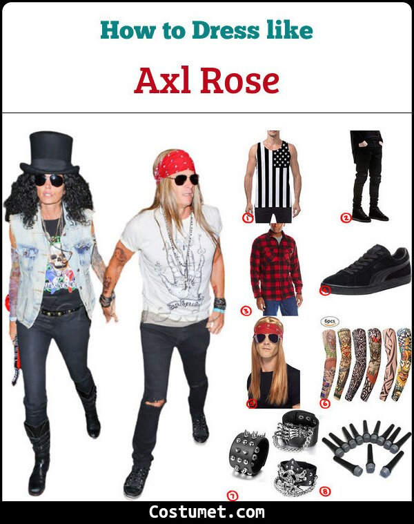 Axl Rose Cosplay & Costume Guide