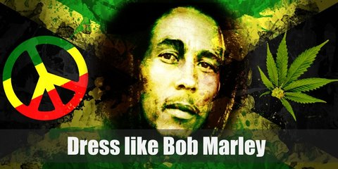 Today, Bob Marley's look is most known for his iconic dreadlocks. He is also usually depicted wearing tie-dye shirts with the colors red, yellow, and green.