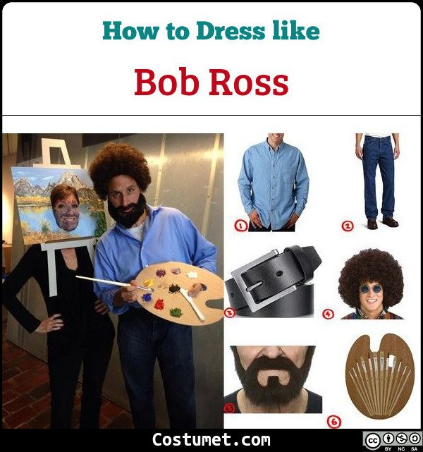 Bob Ross Cosplay & Costume guide