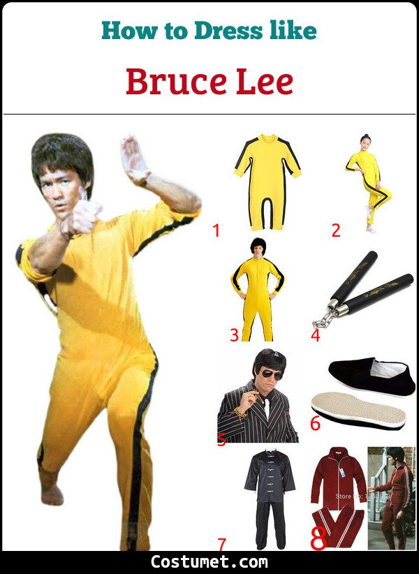 Bruce Lee Costume for Cosplay & Halloween