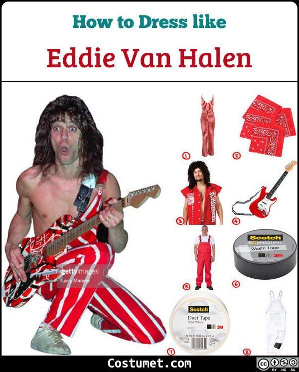 Eddie van Halen Cosplay & Costume Guide