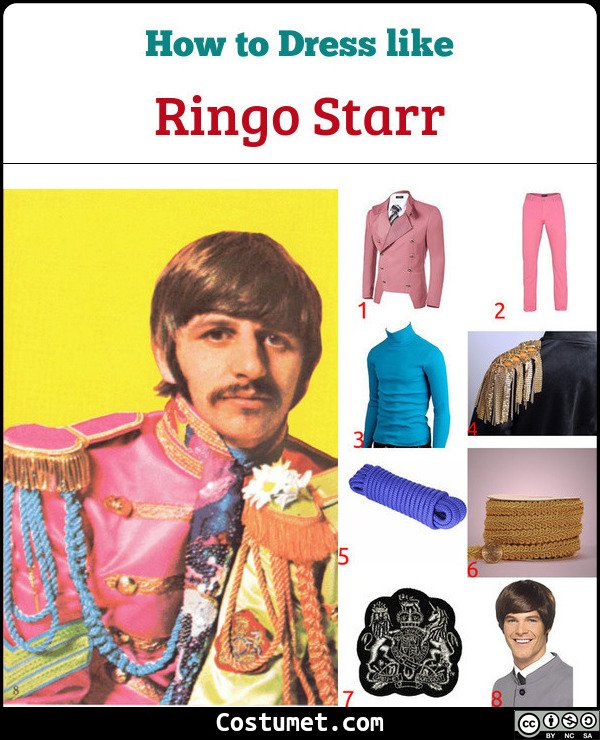 Ringo Starr Sgt Pepper Lonely Hearts Club Band Costume for Cosplay & Halloween