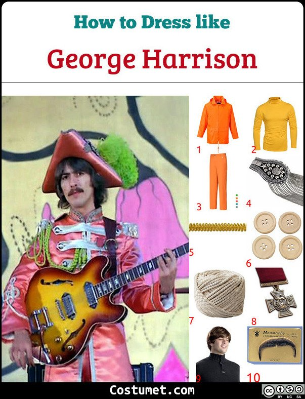 George Harrison Sgt Pepper Lonely Hearts Club Band The Beatles Costume for Cosplay & Halloween