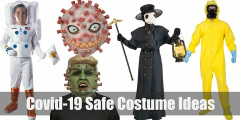 'Safe yet stylish! Celebrate Halloween in fun costumes while being safe during the COVID-19 pandemic.'