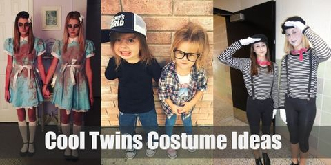 Double the fun this Halloween with matching twin costumes!