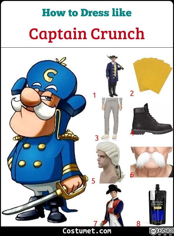 Captain Crunch Costume for Cosplay & Halloween