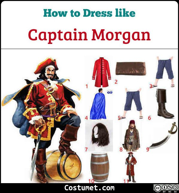 Captain Morgan Costume for Cosplay & Halloween