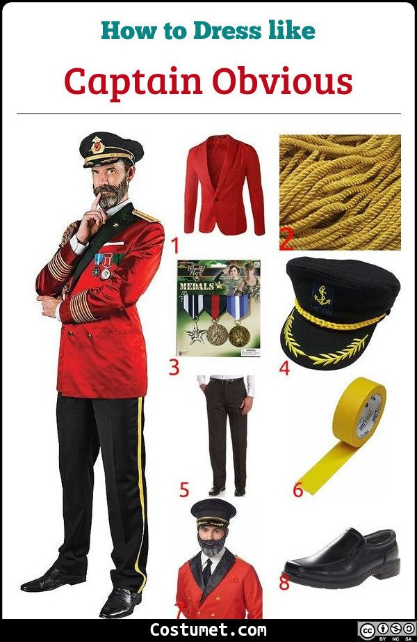 Captain Obvious Costume for Cosplay & Halloween