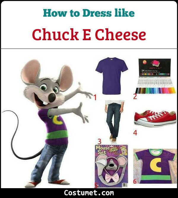 Chuck E Cheese Costume for Cosplay & Halloween