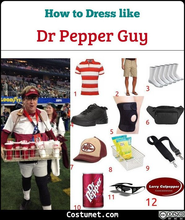 Dr Pepper Guy Costume for Cosplay & Halloween