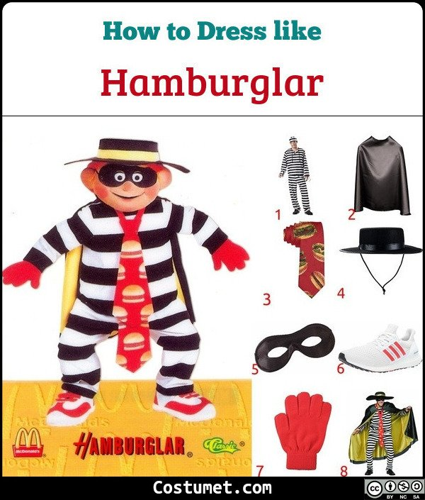 Hamburglar Costume for Cosplay & Halloween