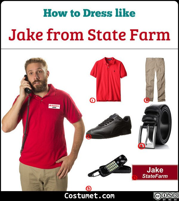 Jake from State Farm Costume for Cosplay & Halloween