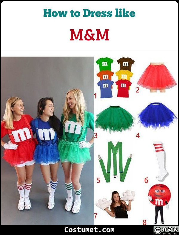 M&m Costume for Cosplay & Halloween