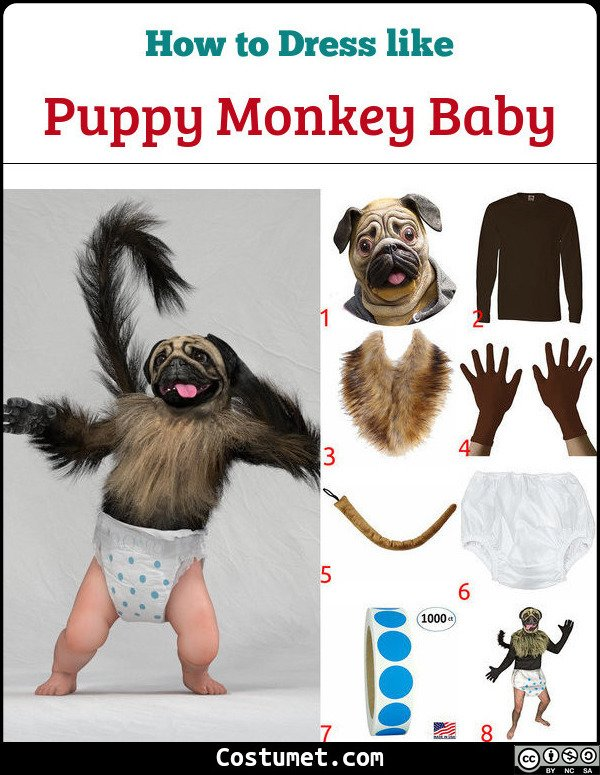 Puppy Monkey Baby Costume for Cosplay & Halloween