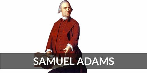 Samuel Adams' costume is colonial attire (red for the founding father) and a mug of beer. When you hear the name 'Samuel Adams', you're probably thinking one of two things: the founding father or the beer.