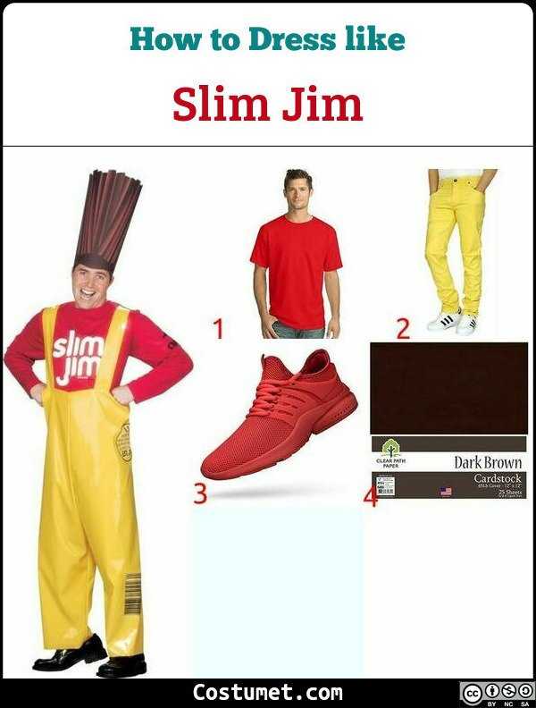 Slim Jim Costume for Cosplay & Halloween