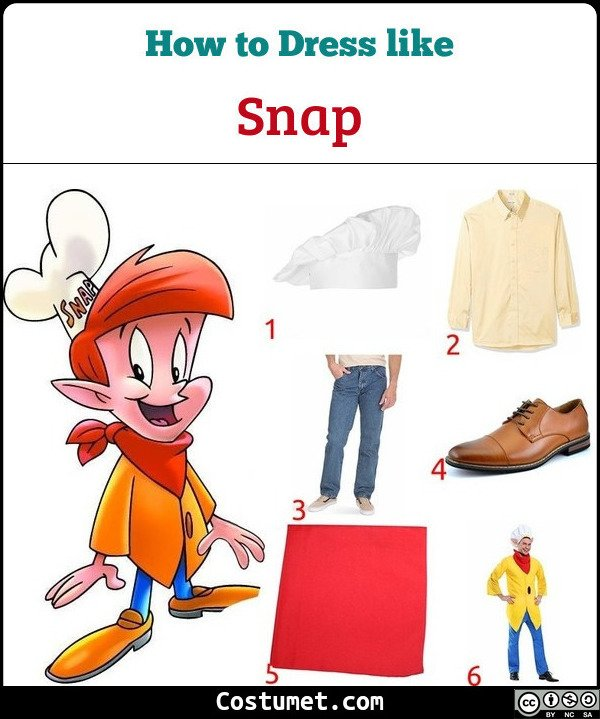 Snap Crackle Pop Costume for Cosplay & Halloween