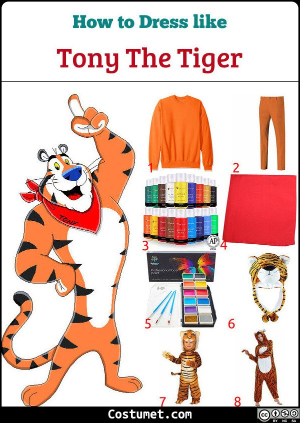 Tony The Tiger Costume for Cosplay & Halloween