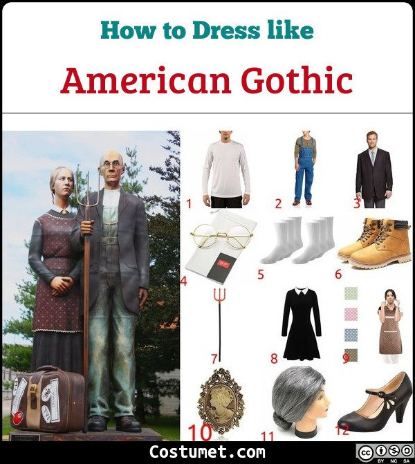 American Gothic Costume for Cosplay & Halloween
