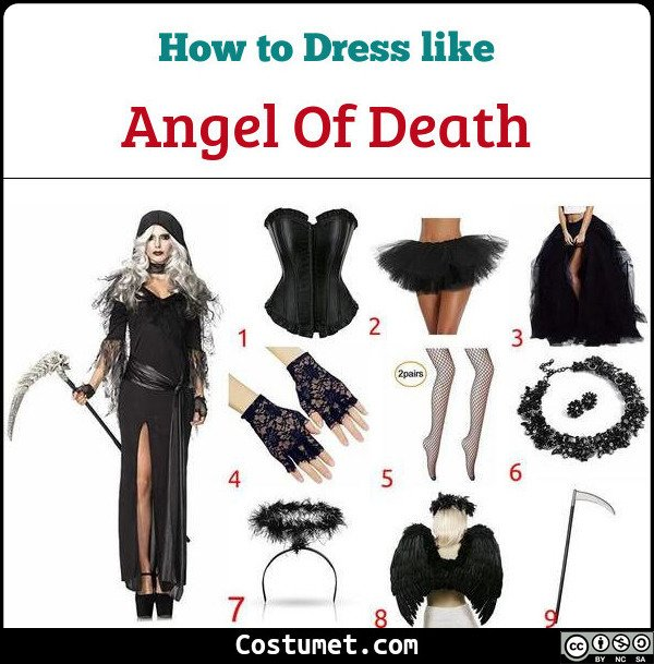 Angel Of Death Costume for Cosplay & Halloween