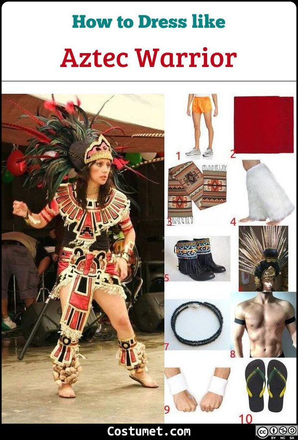 Aztec Warrior Costume for Cosplay & Halloween