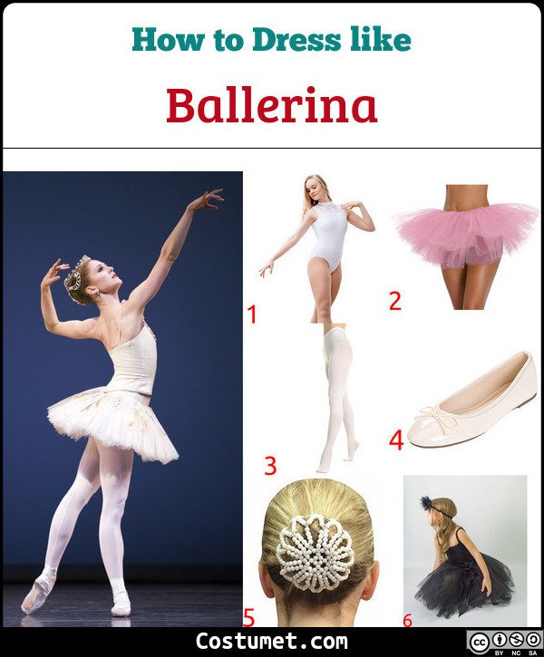 Ballerina Costume for Cosplay & Halloween