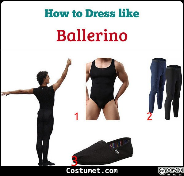 Male Ballet Dancers Costume for Cosplay & Halloween