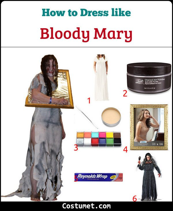 Bloody Mary Costume for Cosplay & Halloween