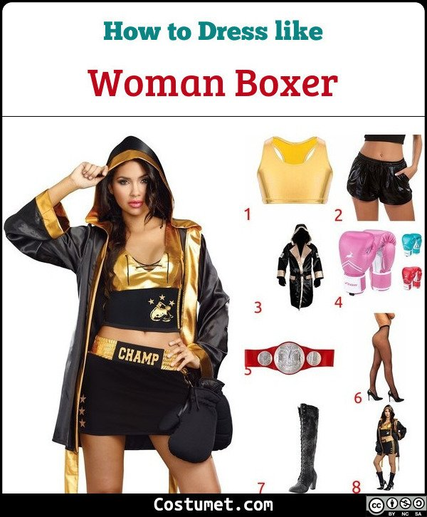 Woman Boxer Costume for Cosplay & Halloween