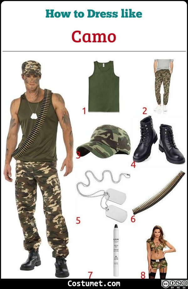 Camo Costume for Cosplay & Halloween