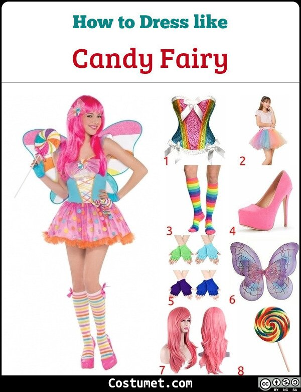Candy Fairy Costume for Cosplay & Halloween