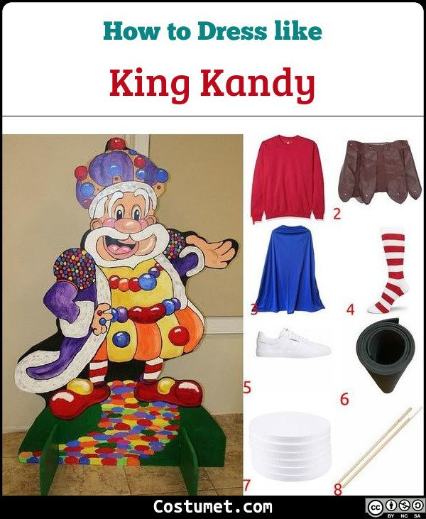 King Kandy Candyland Costume for Cosplay & Halloween