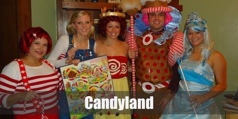 King Kandy, Queen Frostine, Princess Lolly & Mr. Mint (Candyland) Costume