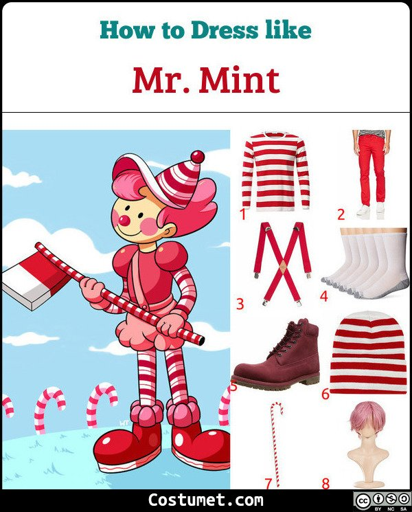 Mr. Mint Candyland Costume for Cosplay & Halloween