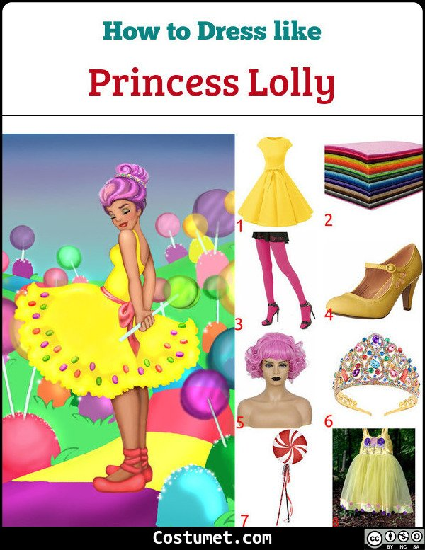 Princess Lolly Candyland Costume for Cosplay & Halloween