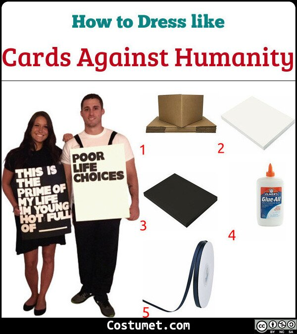 Cards Against Humanity Costume for Cosplay & Halloween
