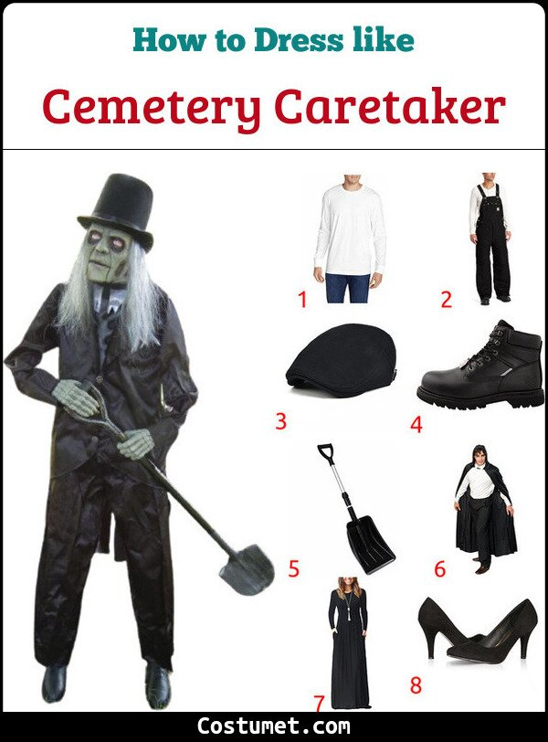 Cemetery Caretaker Costume for Cosplay & Halloween