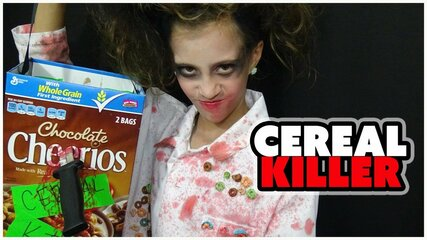 A cereal killer is a hilarious take on a constant murderer by exchanging the word 'serial' with a breakfast grain made of wheat.