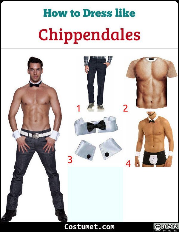Chippendales Costume for Cosplay & Halloween