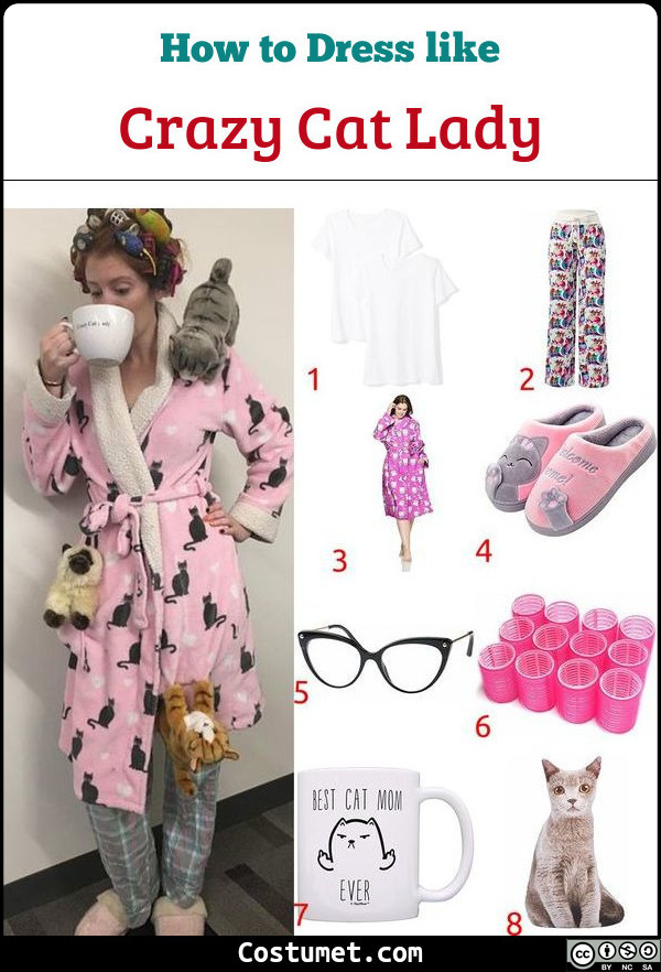 Crazy Cat Lady Costume for Cosplay & Halloween