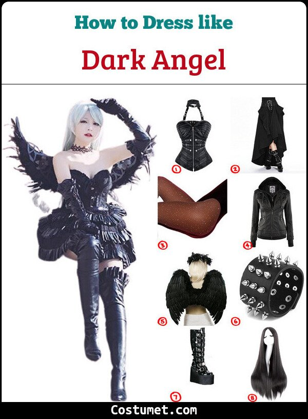 Dark Angel Costume for Cosplay & Halloween
