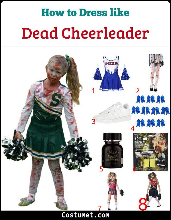 Dead Cheerleader Costume for Cosplay & Halloween